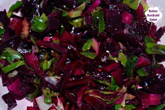 Rotkohl Salat