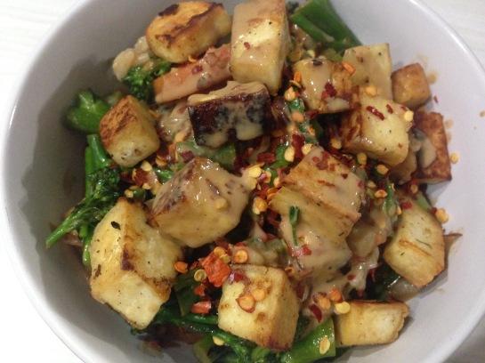 Asiatisches veganes Dinner